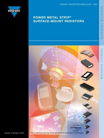 power meTAl sTrip® sUrfAce-moUnT resisTors