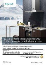 2013'e Siemens fırsatlarıyla başlayın, üstün teknolojilerin kolaylığını ...