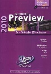 EuroBLECH Preview 2010 -