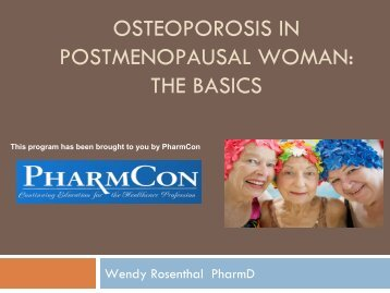 Osteoporosis - Free CE Continuing Education online pharmacy ...