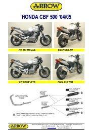 SC Honda CBF 500 04-05.cdr - Arrow Special Parts