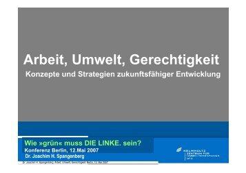 Arbeit, Umwelt, Gerechtigkeit - Rosa-Luxemburg-Stiftung