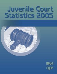 Juvenile Court Statistics 2005. - Office of Juvenile Justice and ...