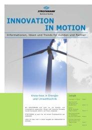 INNOVATION IN MOTION - Strothmann