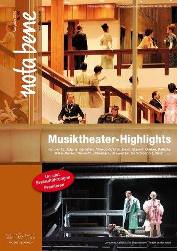 Musiktheater-Highlights