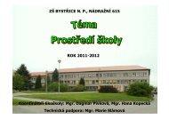 Prostředí školy 2011-2012 - Základní škola Bystřice nad Pernštejnem