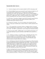 Immunization quiz answers - AAEM