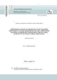 aprūpinimo elektra patikimumo lygio techninė- ekonominė analizė ...