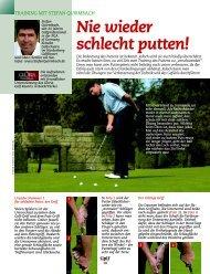 Nie wieder schlecht putten! - Stefan Quirmbach Golfschule