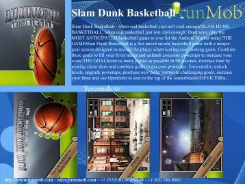 Slam Dunk Basketball - RunMob