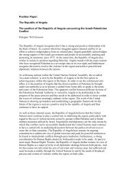Position Paper: The Republic of Angola The position of ... - ViaMUN