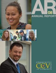 2008 CCV Annual Report - Community College of Vermont