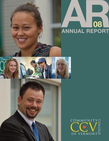 2008 CCV Annual Report - Community College of Vermont
