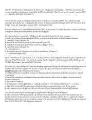 OGGETTO: Richiesta di formulazione di offerta per l'affidamento ...