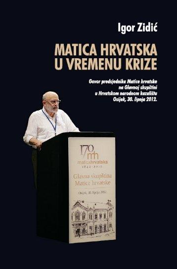 Matica hrvatska u vremenu krize (319,8 KB)