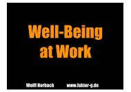 Well-being at Work - Humanistic Management Center