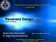 Receivers Design: - Analog and Mixed Signal Center - Texas A&M ...