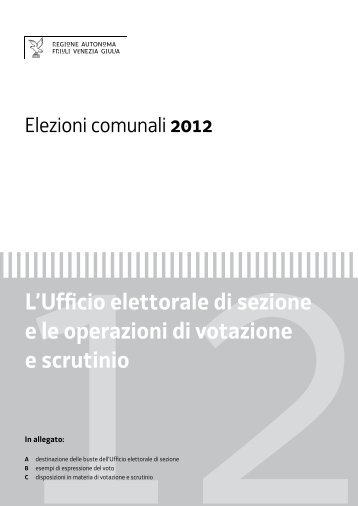 Operazioni nell'Ufficio elettorale di sezione - Destinazione delle buste