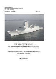 Analyse av læringsrommet for opplæring av vaktsjefer i Fregattvåpenet