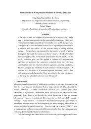 Some Similarity Computation Methods in Novelty Detection