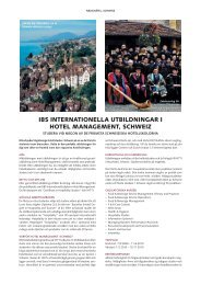 ibs internationella utbildningar i hotel management, schweiz - STS