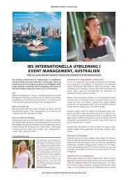 ibs internationella utbildning i event management, australien - STS