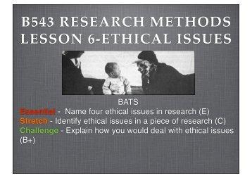 RM 6 ethics 2013 - The Grange School Blogs
