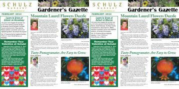 Download the February 2013 Newsletter - Schulz Nursery
