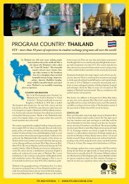 PROGRAM COUNTRY: THaILand - STS