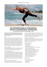ibs internationella utbildning i sports & recreation, australien - STS