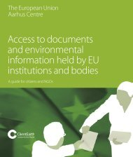 Access to documents and environmental information ... - ClientEarth