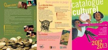 La plaquette de présentation du catalogue culturel 2012 ... - aeloc