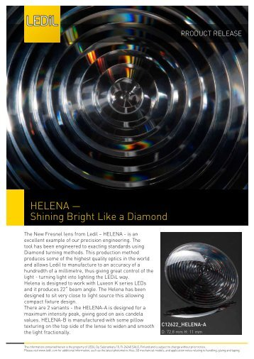 HELENA — Shining Bright Like a Diamond - Silica Lighting