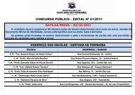 data da prova – 30/10/2011 - Instituto Mais