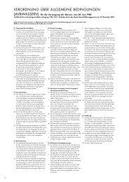 Verordnung über Allgemeine Bedingungen für ... - Stadtwerk am See