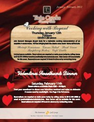 Cooking with Bryant Valentines Sweethearts Dinner - Twin Creeks ...