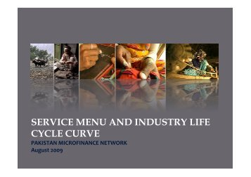 service menu and industry life cycle curve - Banking with the Poor ...