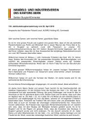 HIV Jahresbericht 2009 HV 2010 - Handels- und Industrieverein des ...