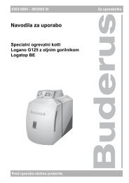 Navodila G125 BE - Buderus