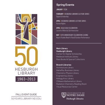 Print Event Guide - Hesburgh Library Celebrates 50 Years