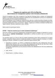 Programme de coopération entre l'UE et les États-Unis dans le ...
