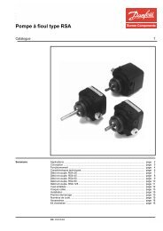 Pompe à fioul type RSA - Danfoss Chauffage