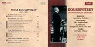 GHCD2321 Koussevitzky Vol 1.indd - Chandos