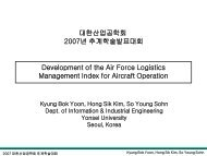 Development of the Air Force Logistics Management Index for ...