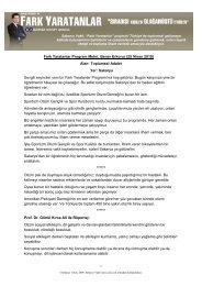 Fark Yaratanlar Program Metni: Bener Erkorur (25 ... - Sabancı Vakfı