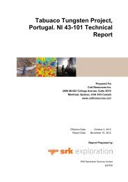 Technical Report NI 43-101 on the Tabuaço - Colt Resources