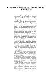 cisti mascellari: problemi diagnostici e terapeutici - Accademia ...