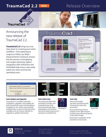 TraumaCad 2.2 Release Overview - Eporia