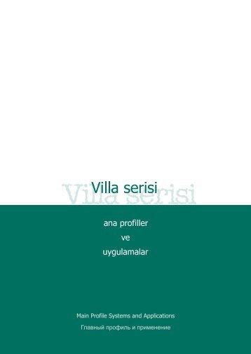 Villa Profili Teknik Bilgileri - Prokal
