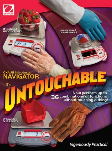 OHAUS Navigator XT introduction